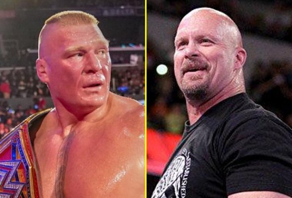 Brock Lesnar and Steve Austin