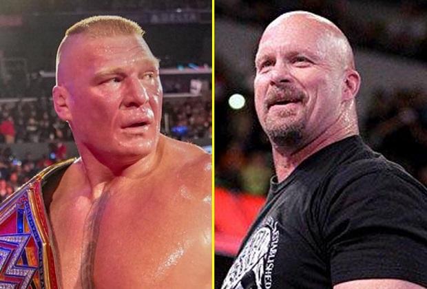 Brock Lesnar and Steve Austin