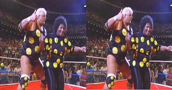 Dusty Rhodes NWA dancing in the ring