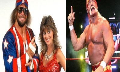 Miss Elizabeth and Macho Man Randy Savage and Hulk Hogan