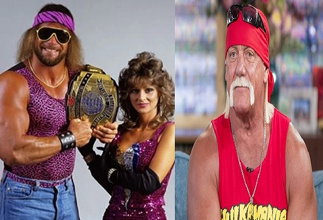 Randy Savage and Miss Elizabeth and Hulk Hogan