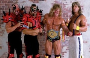 Road Warriors Hawk and Animal, the Ultimate Warrior