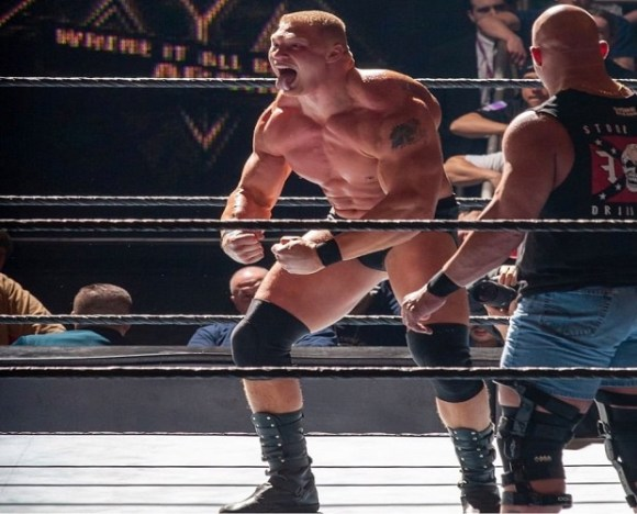 Vince McMahon had the idea of having Lesnar defeat Steve Austin in a qualifying match-up