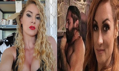 Lacey Evans and Seth Rollins and Becky Lynch