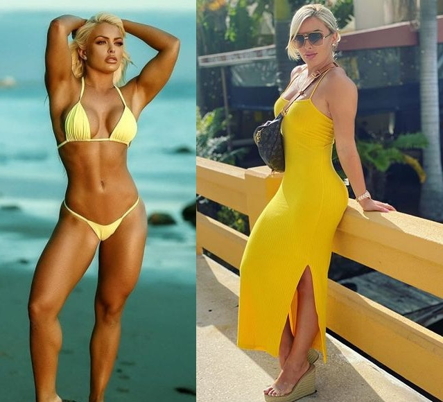 Mandy Rose yellow dress