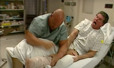 Stone Cold Steve Austin dressed up as a Nurse to attack Vince McMahon