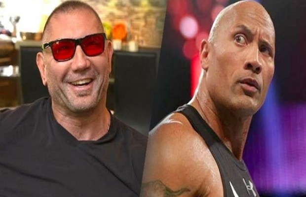 Dave Batista and Dwayne Johnson
