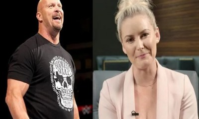 Renee Young and Stone Cold Steve Austin