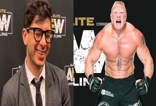 Tony Khan and Brock Lesnar