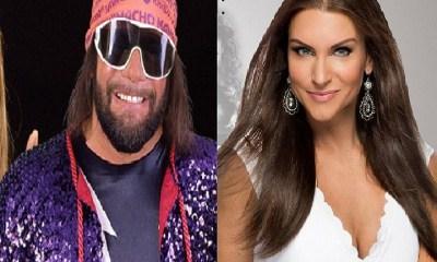 Randy Savage and Stephanie McMahon