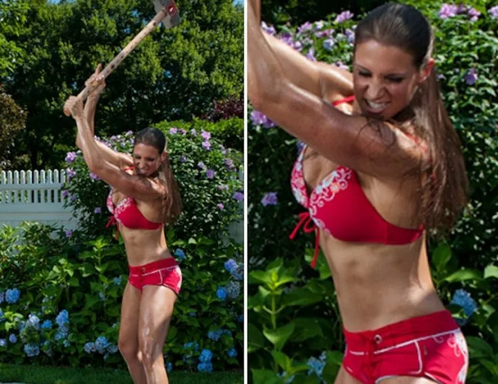 Stephanie McMahon beautiful workout