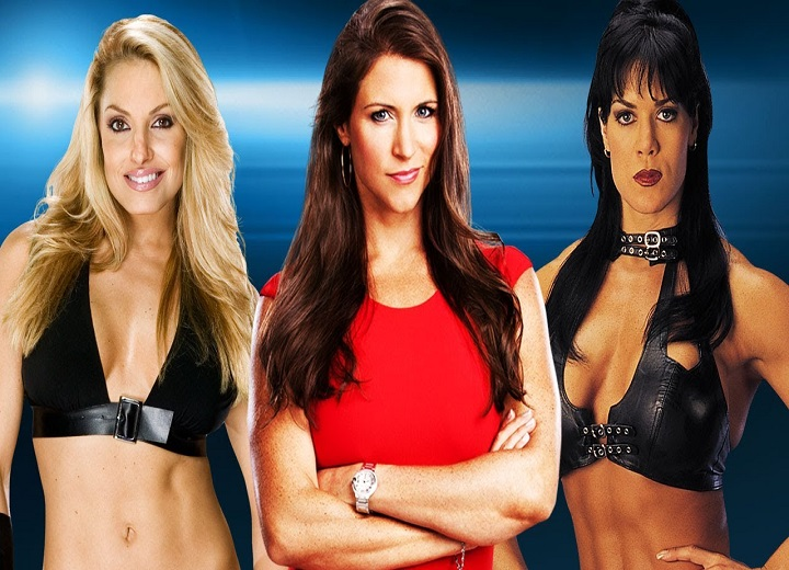 Stephanie McMahon, Trish Stratus and Chyna