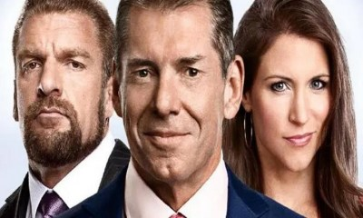 Triple H, Stephanie McMahon and Vince McMahon