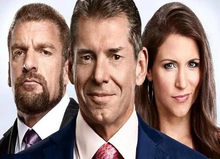 Triple H, Stephanie McMahon and Vince McMahon