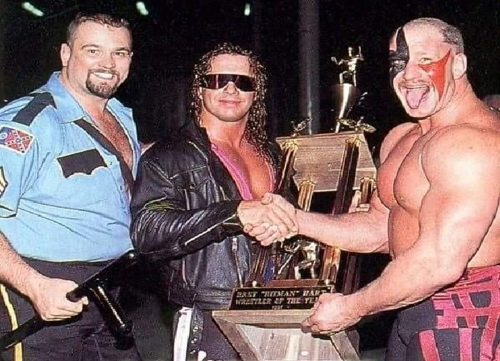 Big Boss Man, Bret Hart and Road Warrior Hawk