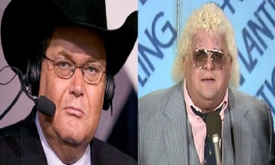Jim Ross and Dusty Rhodes wrestling