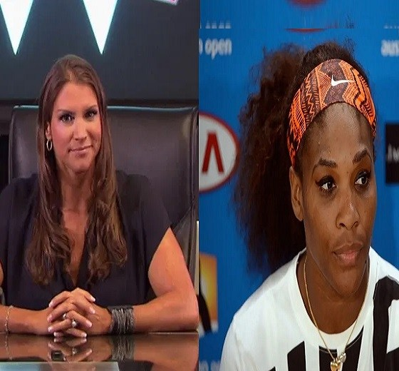 Stephanie McMahon and Serena Williams interview
