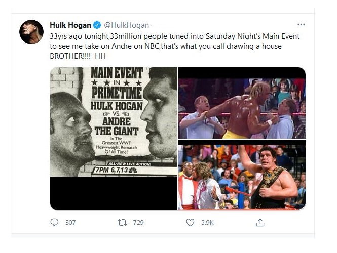 """Hulk Hogan """"was afraid to look Andre in the face"""""""