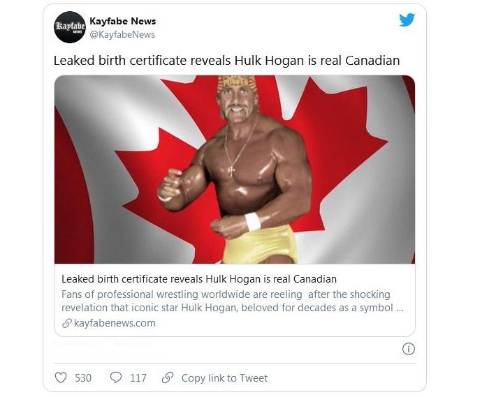 Hulk Hogan Leaked birth certificate