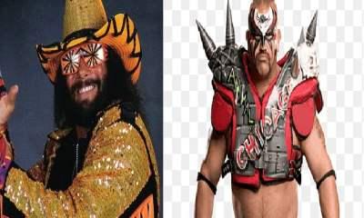 Randy Savage and Road Warriors Hawk