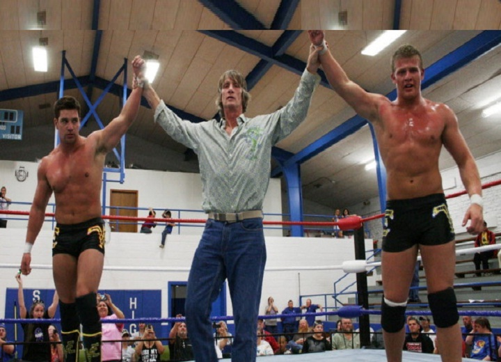 Ross and Marshall Von Erich, sons of Kevin Von Erich