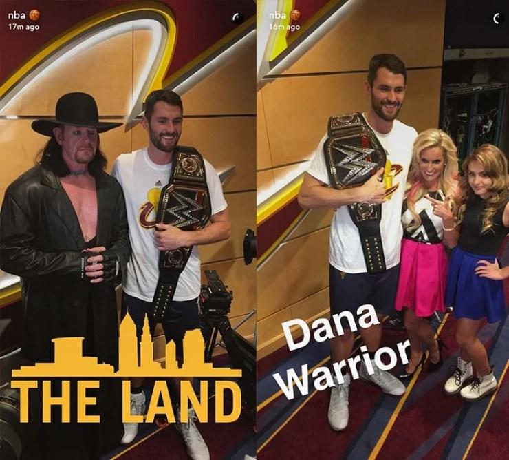 The Undertaker, Michelle McCool and Dana Warrior