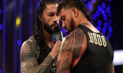 Roman reigns vs Jimmy Usos