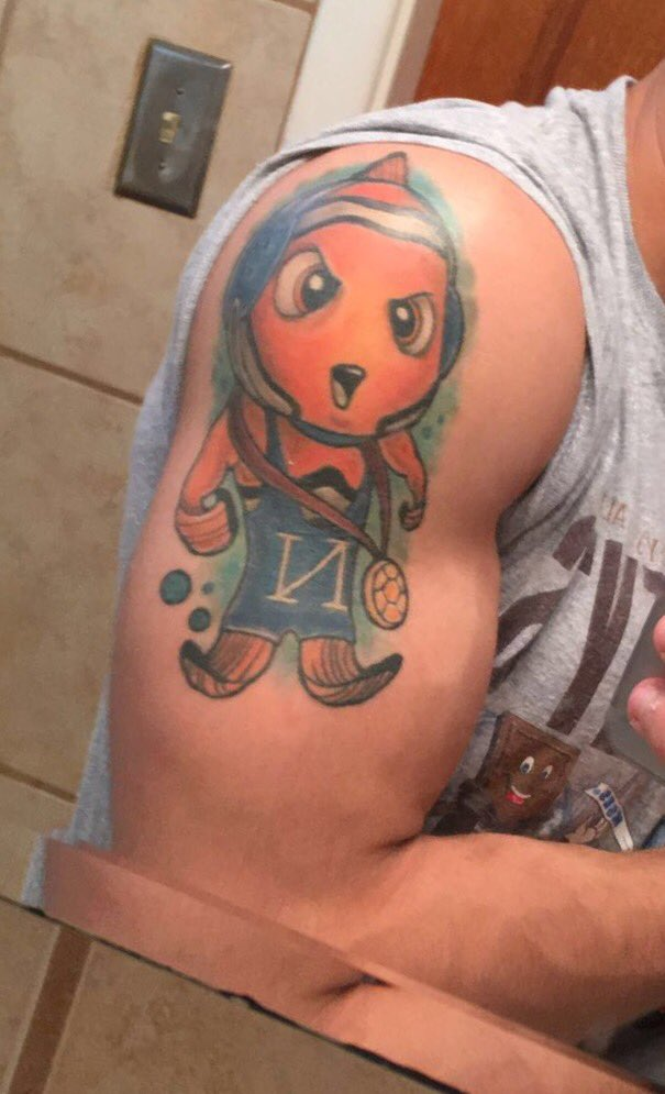 Nemo Wrestling Tattoo