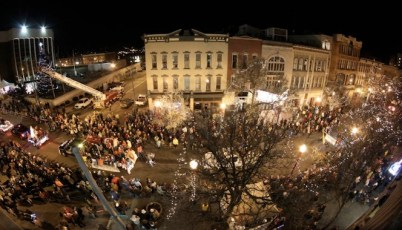 The annual Downtown Jamestown Holiday Parade attracts thousands of people each year. (Photo courtesy of jrconline.org)