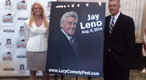 Jay Leno, Tom Cotter to Headline2014 Lucille Ball Comedy Festival