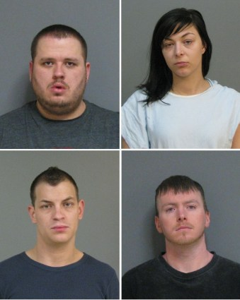 Pictured clockwise from upper left: Rocco Beardsley, Aimee Hogg, Brandon Smith and Beau Jones.