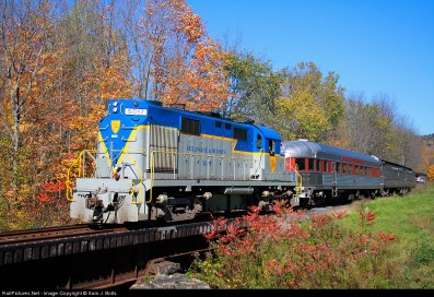 A passenger excursion train, like the Delaware & Ulster Railroad service in Delaware County, NY (pictured), could be in Jamestown's future, linking the city with Buffalo, 70 miles to the north. (Image courtesy of ScenicRailroadExcursions.com)