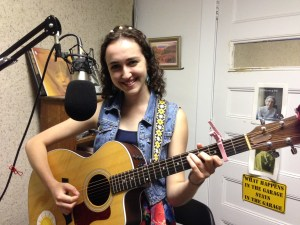 Olivia Frances in the WRFA studio