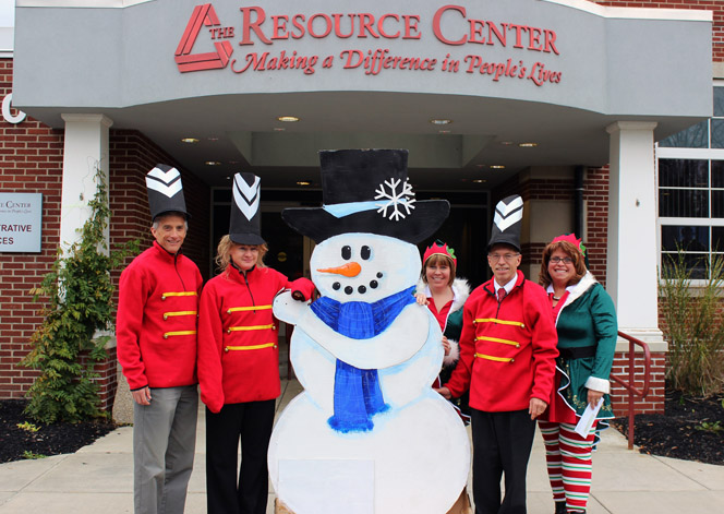 Pictured from left: Steve Waterson, TRC Director of Public Relations, Selina Phillips, TRC Executive Assistant, Terri Johnson, TRC Director of Rehabilitation, Employment and Community Services, Greg Lindquist, Executive Director for the Jamestown Renaissance Corporation, and Heather Brown, TRC Assistant Executive Director.