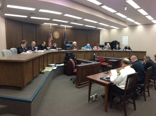 The Jamestown City Council during its Nov. 2015 voting session.