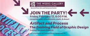 [LISTEN] 'Artifacts and Process' Reception Scheduled for Friday, Feb. 12