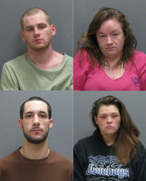 Clockwise from upper left: Joshua Berg, Michelle King, Tiffany Mahoney. and Jacob Trippy