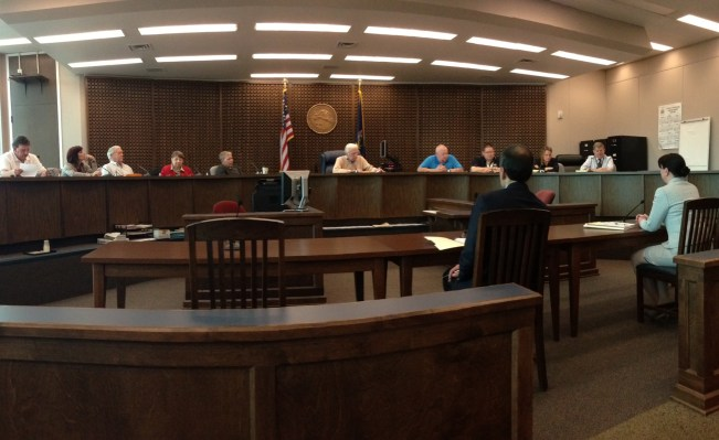 The Jamestown Zoning Board of Appeals during its May 5, 2016 meeting.