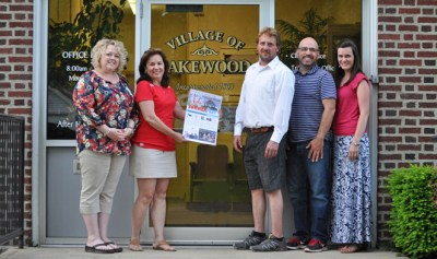 The Village of Lakewood Events and Marketing Committee is pleased to announce the 4th of July  Summerfest in downtown Lakewood on Monday, July 4, 2016.  Executive committee members  pictured left to right are Secretary, Kara Rusco; Mayor Cara Birrittieri; Entertainment Deputy, Campbell Dawson; and Co-Chairpersons, Scott Mekus, and Brooke Wagner.  Missing is Alex Sullivan, Marketing Deputy.