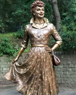 The new statue of Lucille Ball that was unveiled on Saturday, Aug. 6 and will be on display in Lucille Ball Memorial Park, Celoron NY.