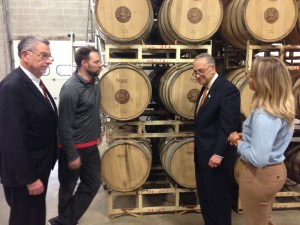 Schumer Visits Southern Tier Distillery, Calls on USDA to Expand Crop Insurance Program