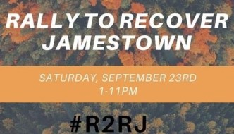 Rally to Recover Jamestown is Saturday at Sherwood Arts Complex