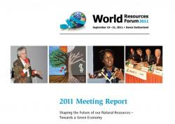 Meeting report 2011 World Resources Forum published