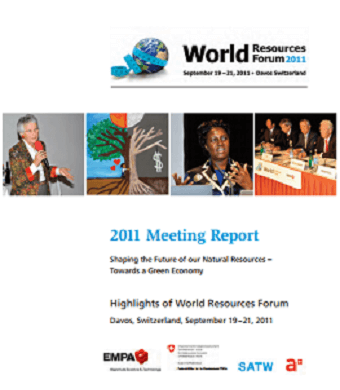 Shaping the Future of Natural Resources – WRF 2011 Davos Meeting Report