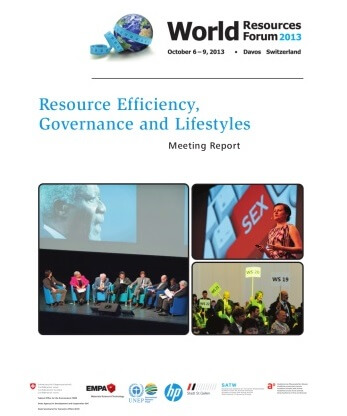 Resource Efficiency, Governance and Lifestyles – WRF 2013 Davos Meeting Report