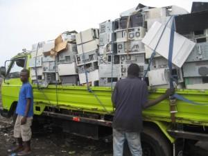E-waste recycling in Ghana, (c) SRI