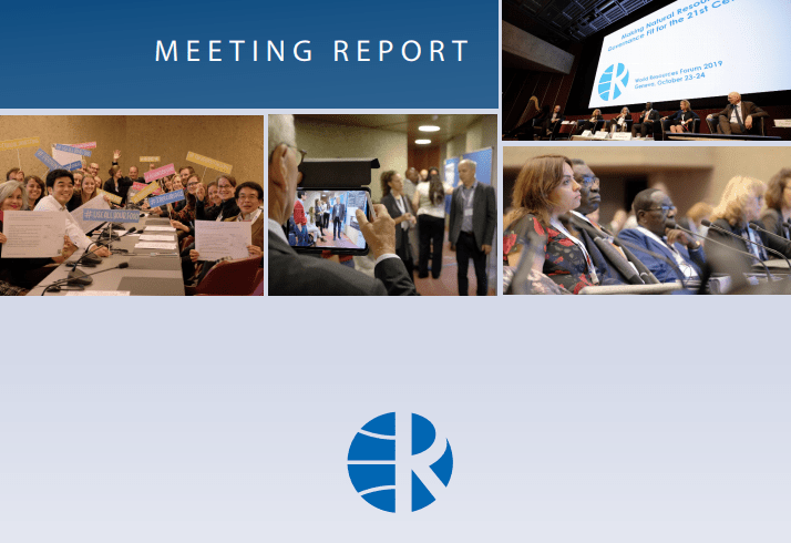 WRF 2019 Meeting Report on Resource Governance Published