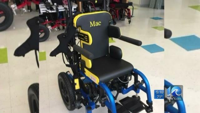 4 year-old's wheelchair stolen in Virginia Beach car theft