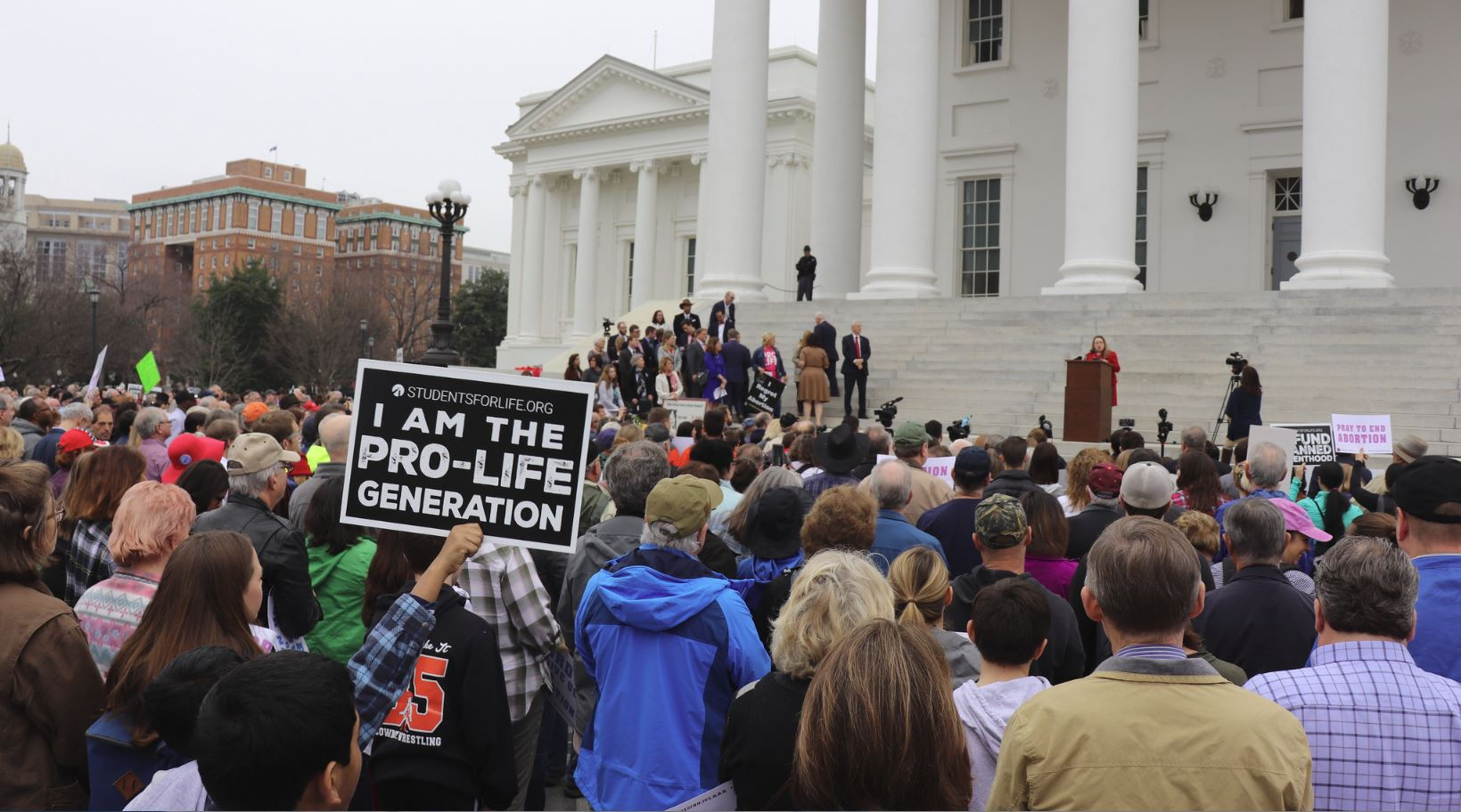 Hundreds of anti-abortion activists rally at Virginia Capitol