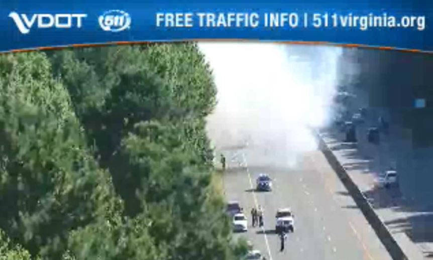 Fiery multi-vehicle crash closes I-95 south in Colonial Heights